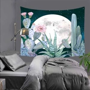 Tapestry Cactus Moon Wall Hanging Decoration